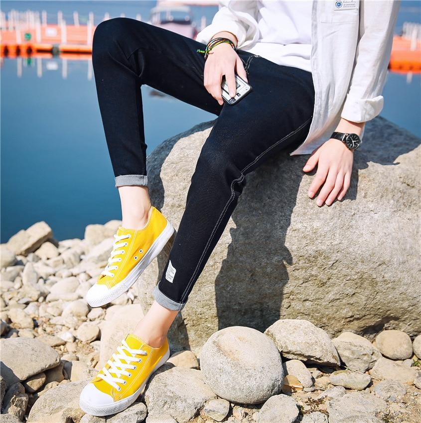 2017 Spring New Style MEN'S Jeans Teenager Men Elasticity Slim Fit Fashion Korean-style Skinny MEN'S Trousers Fashion