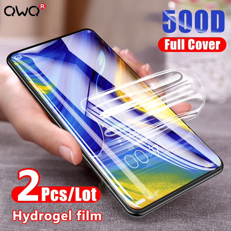 Screen Protector For Xiaomi Mi Note 10 Lite Ultra 9 SE 9T Pro Full Cover Hydrogel film For Redmi Note 9S 10X 7 8 9 Pro Not Glass