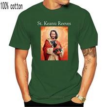 Saint Keanu Meme Funny Mr Wick Baba Yaga Hitman Loves Dog Black T-Shirt S-3Xl Loose Size Top Ajax Funny Tee Shirt