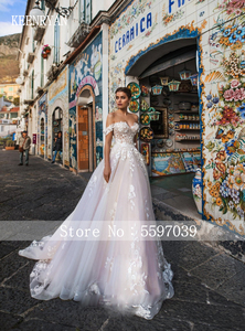 Image 2 - Nieuwe Collectie Sexy Sweetheart Backless Lace Baljurk Trouwjurk 2020 Off Shoulder Elegante Bruid Jurken Prinses Bruidsjurken