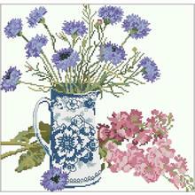 Нерафинированные цветочные узоры вышивка крестиком 11ct 14ct
