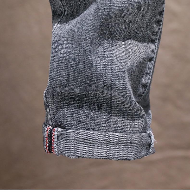 KSTUN Mens Skinny Jeans Pants Gray Light Blue Stretch Jeans Men Brand Quality Fashion Casual Denim Pants Men's Clothing Long Trousers 18