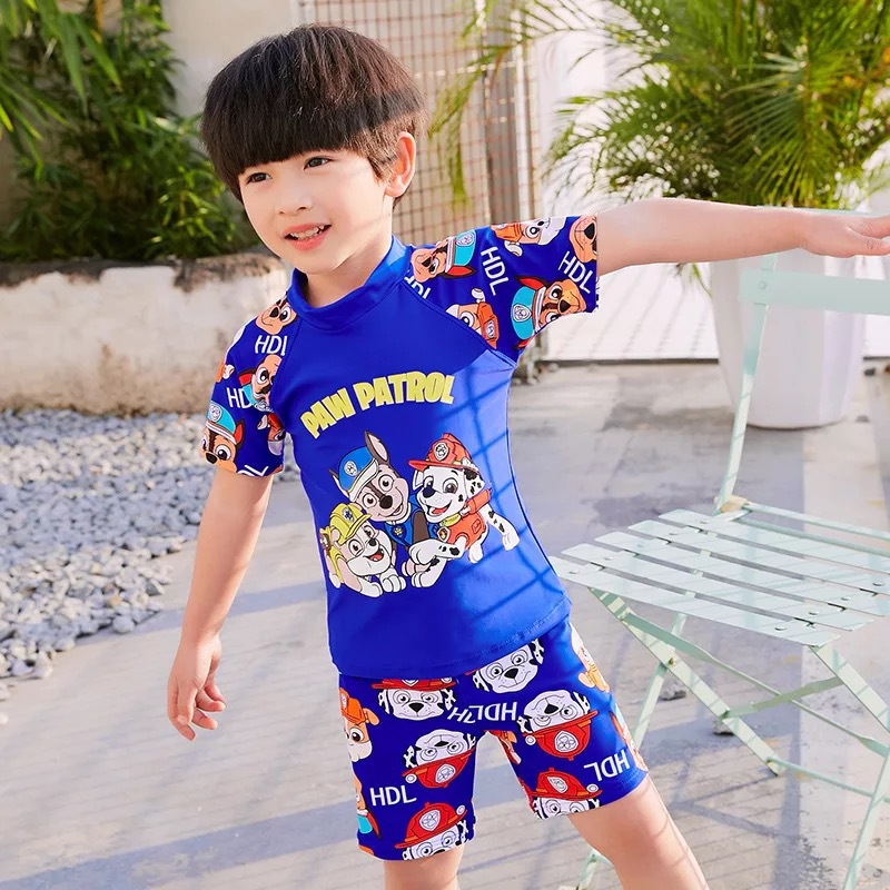 Split Type Fashion Paw Patrol Cartoon BOY'S Swimsuit New Style Children Boy Hot Springs Swimwear Set Children