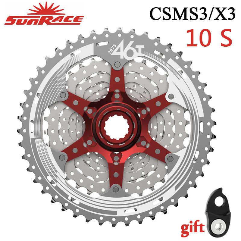 SUNRACE MX3 10 Speed Mountain Bike Cassette 11-40 Red