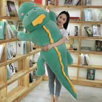 На рост от 80 до 120 см милые новые плюшевые игрушки, динозавр, мягкие топы с длинными подушки мультфильм чучела ящерица прекрасный для мальчик...