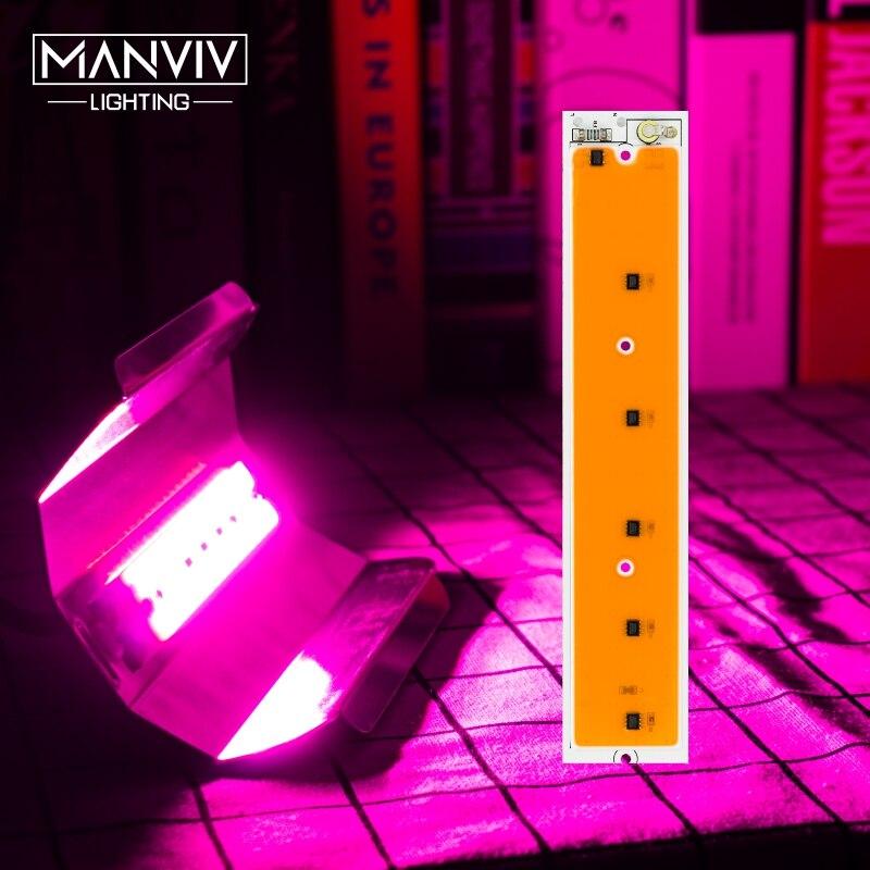 Led crescer luz phyto lâmpada 30 w 50 80 220 v cob led crescer chip espectro completo diy led projector planta interior hidropônico estufa
