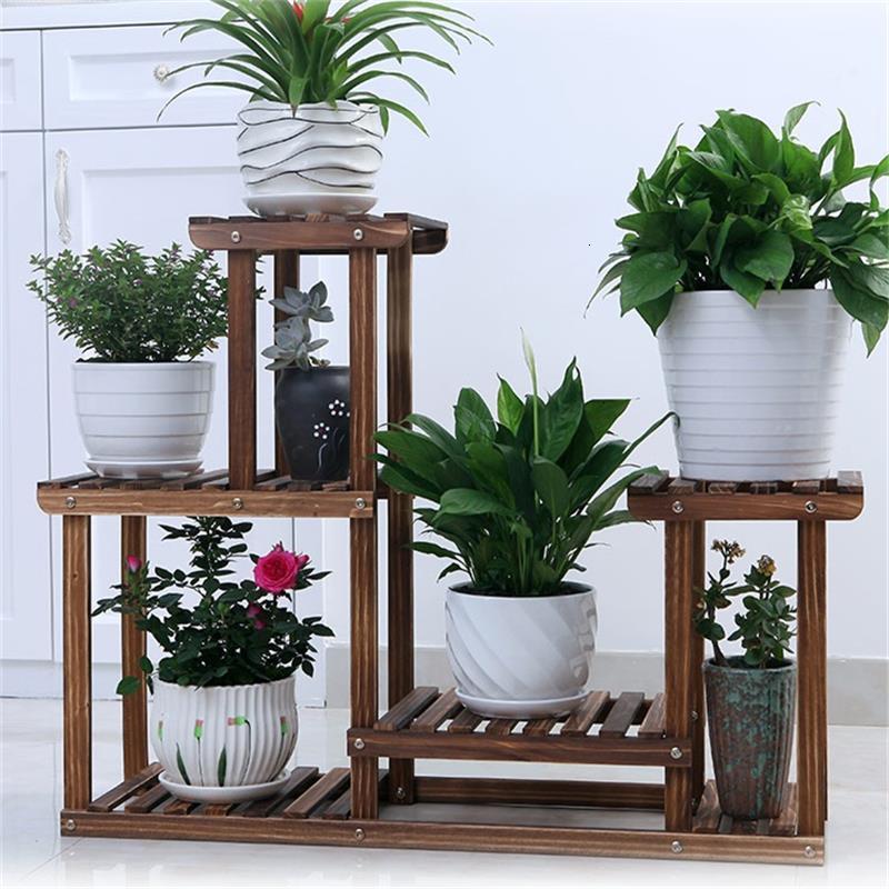 Madera Plantenstandaard Estanteria Para Macetas Indoor Soporte Plantas Interior Outdoor Stand Balcony Rack Flower Plant Shelf