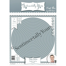 Metal Cutting Die Craft Stitched Diy Scrapbooking Round Double-Debossed Embossing-Making-Stencil-Template