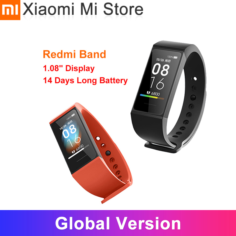 Global Version Xiaomi Redmi Band  1 08inch Color Screen Mi band 4C Heart Rate Monitor BT5 0 USB Charging Bracelet Smart Wristband