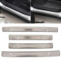 Para chevrolet blazer 2019 2020 acessórios de aço inoxidável exterior do peitoril da porta placa scuff guarnição limiar capa estilo do carro