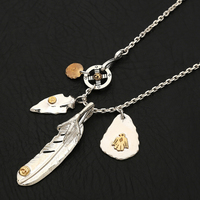925 Sterling Silver Necklace For Men Silver Claw Feather Charms Eagle Pendant Chain New Fine Jewelry