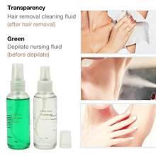 60ml de salud Natural del pelo del cuerpo de suero antes y después de un tratamiento de líquido suave del pelo del pulverizador de cera para las mujeres