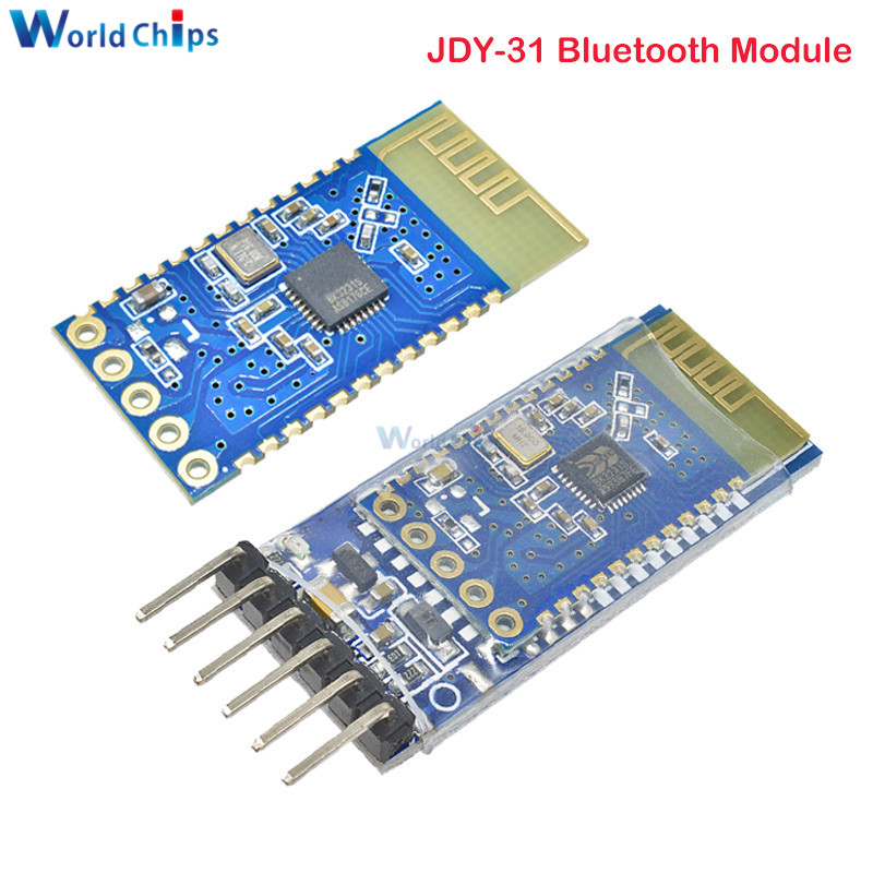 JDY-31 Bluetooth 3.0 <font><b>HC</b></font>-05 <font><b>HC</b></font>-<font><b>06</b></font> Bluetooth Module Serial Port 2.4G SPP Transparent Transmission Compatible with <font><b>HC</b></font> 05 <font><b>06</b></font> JDY-30 image