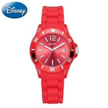 Mickey Mouse Sport Steel Quartz Watch Cartoon Children Watches Calendar Luminous Ladies Student Women Silicon Reloj Girls Clocks