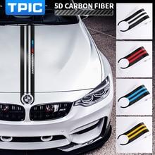 TPIC In Fibra di Carbonio Auto Hood Sticker M Performance Auto Decalcomanie Della Decorazione Per BMW E90 E46 E39 E60 F30 F10 F15 e53 X5 X6
