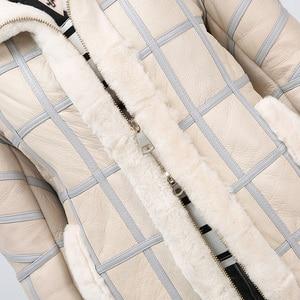 Image 5 - 2019 Real Sheep Shearing Autumn Winter Womens Tops Warm Leather Coat Women Vest New Fashion Sheepskin Sweater Vest Coat
