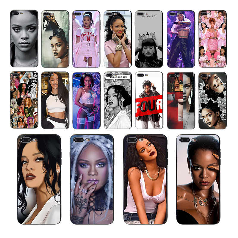 HOUSTMUST Zangeres Rihanna zachte telefoon case voor iphone X 7 6s 8 6 plus 11 PRO XS MAX XR cover Capa 10 se 5 5s TPU shell Coque Funda