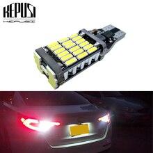 цена на T15 W16W 921 Car LED Super Bright 45SMD 4014 Car Auto LED Canbus Error Free Reverse Light Backup Parking Light Brake lamp xenon White 12V