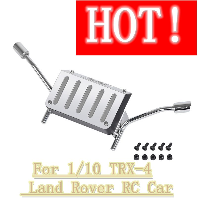 certylu Remote Control Toys Accessories,Simulation Metal Fuel Tank Exhaust Pipe for 1//10 TRX-4 L-and R-over RC Car