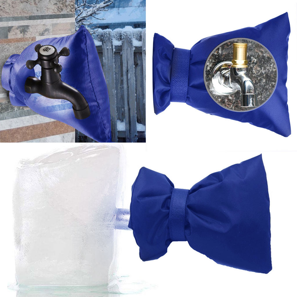 Outdoor Faucet Cover Faucet Congeal Protection For Faucet Outdoor Faucet Socks 4Pcs  Secures With A Hook-and-loop Strap #0535