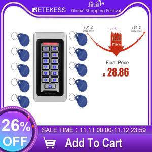 Image 1 - Retekess T AC03 Keypad RFID Access Control System Proximity Card Standalone 2000 Users Door Access Control Waterproof Metal Case