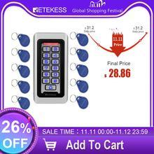Retekess T AC03 Клавиатура RFID система контроля доступа Бесконтактная карта автономная 2000 пользователей дверь контроль доступа водонепроницаемый металлический чехол