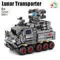 Цветные игрушки, космический корабль, серия, грузовик среднего размера, перевозчик грузов, сборный конструктор для мальчиков, игрушка в под...