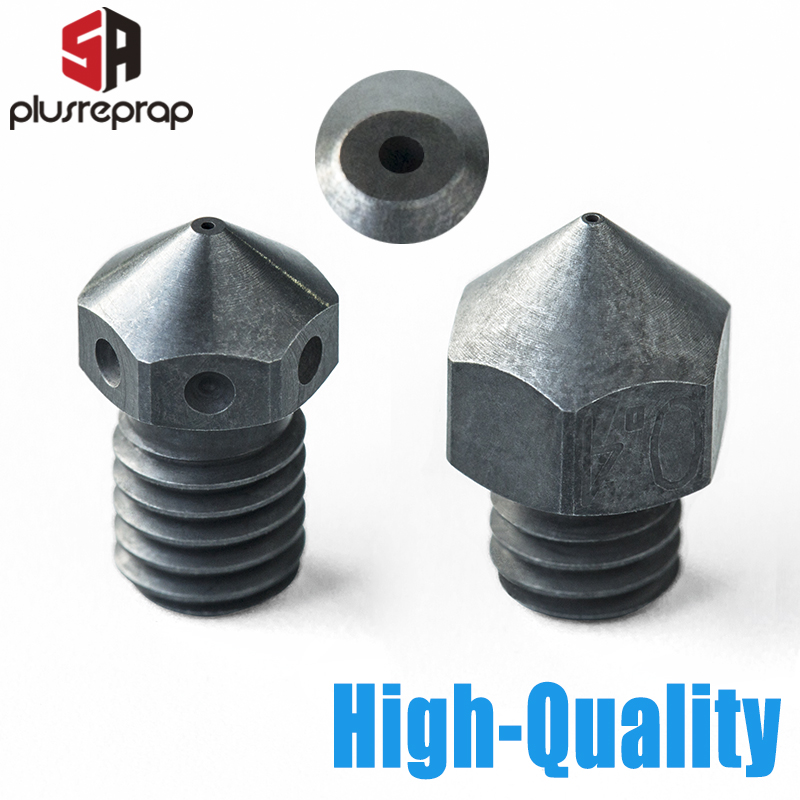 High Temperature Hardened Steel Nozzle For 3D Printer PEI PEEK Or Carbon Fiber For V6 MK8 Ender3 CR10 CR10S HOTEND Extruder