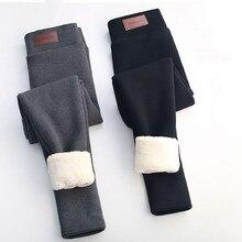Calças de inverno mulheres calças de inverno calças de cintura alta para mulheres de flanela streetwear calças casuais de inverno 3xl