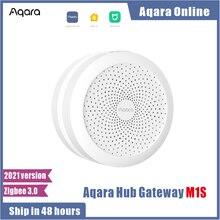 2021 mais novo aqara hub m1s gateway com rgb led night light zigbee 3.0 siri aplicativo de voz inteligente trabalho controle remoto mijia app homekit
