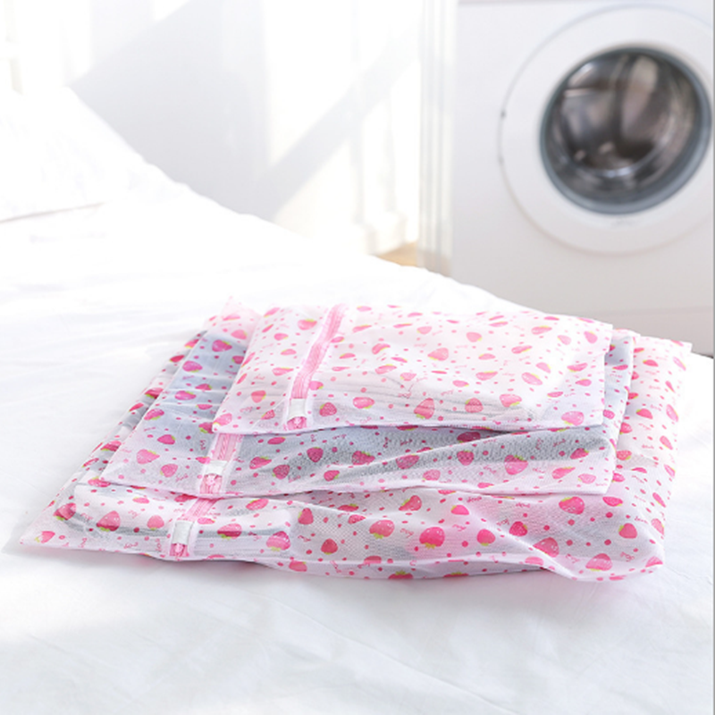 Polyester Mesh Laundry Bag Net Wash Bags Laundry Bask for Underwear Sock Washing Machine Protect Clothes Bra Bags
