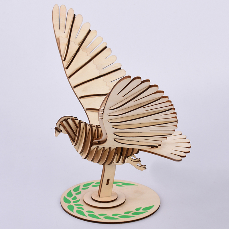 DIY Laser Cutting 3D Peace Birds Model Wooden Jigsaw Puzzle Game Assembly Toys For Children Kindergarden Early Education Toys