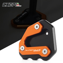 NEW For KTM 1290 Super Duke GT 2013-2017 2018 Motorcycle CNC Kickstand Side Stand Pad Extension Plate Enlarger Pad Accessories цена