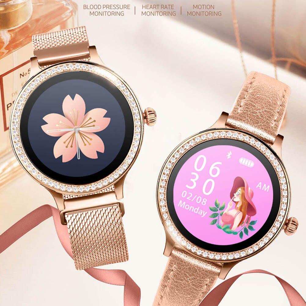 Smart Bluetooth Bracelet Intelligent Health Monitoring Crystal Dial Watch TY53