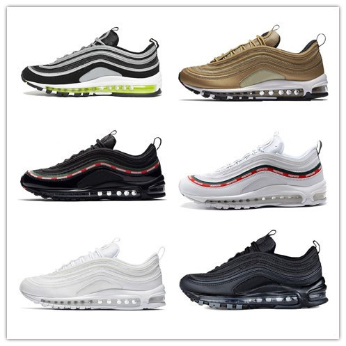 PADEGAO Air Maxs 97 Flyknit Vapormax Sneakers Men's Breathable Running Shoes Athletic Footwear Walking Sport Shoes