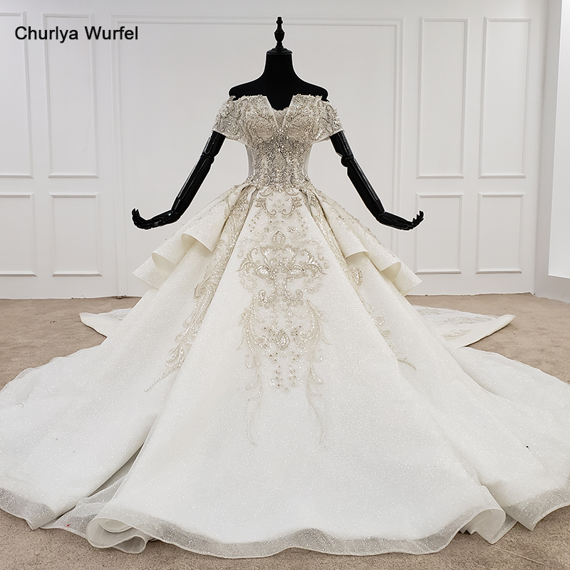 HTL1119 Luxury Wedding Dress Boho Off Shoulder Special Neck Bead Detachable Wedding Gowns 2020 New Fashion Design Hot Trouwjurk