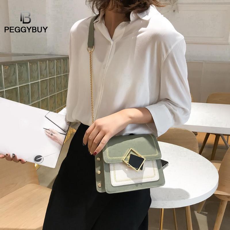 Casual PU Leather Crossbody Bags Women Chain Square Shoulder Messenger Bags New Designer Ladies Shoulder Messenger Bag