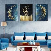 Отделки стен абстрактное животное Искусство Плакат Золотая рыбка
