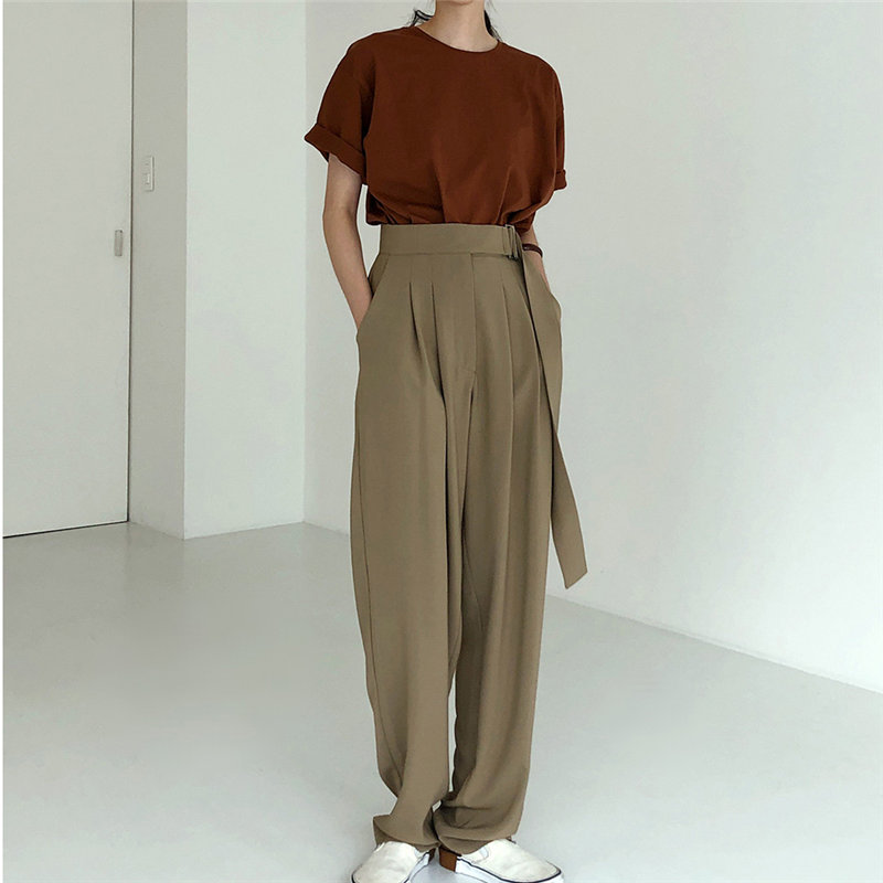 Alien Kitty 2019 Summer Straight High Quality Casual New High Waist Loose Women Full Length Fashion All-Match Solid Trousers