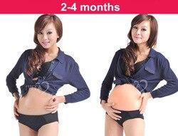 3-4 месяца искусственный детский животик силиконовый живот поддельная беременность, беременный живот поддельная беременность Розничная то...