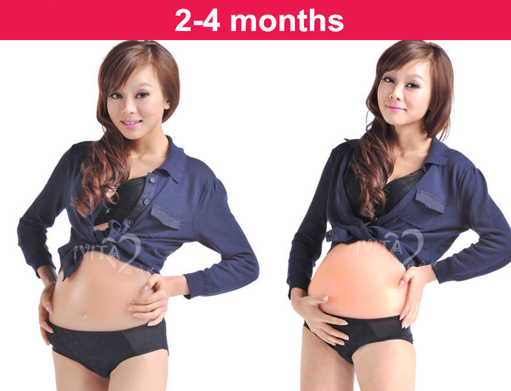 3-4months Artificial Baby Tummy Silicone Belly Fake Pregnancy,Pregnant Belly Fake Pregnancy Retail  Belly Fat
