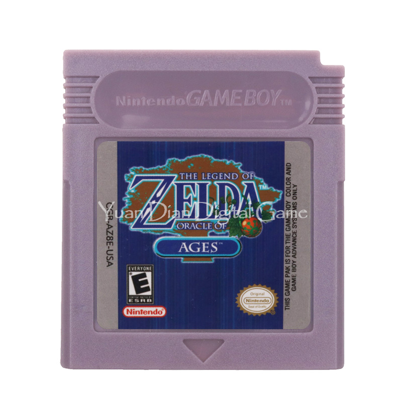 For Nintendo GBC Video Game Cartridge Console Card The Legend Of Zeld Oracle Of Ages English Language Version