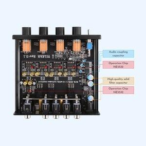Image 4 - מגבר Lossless אודיו ספליטר NE5532 Op Amp 1 קלט 4 פלט RCA אודיו מפיץ עם טון נפח שליטה מגברי DIY