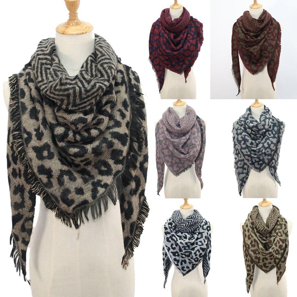 Frauen Winter Warme Schal Leopard Print Lange Wrap Schal Schal Schals Stola Umhang Schal Mode Wrap Weich Verdicken Langen Hals schal
