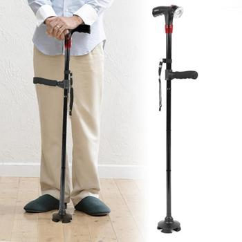 Collapsible Telescopic Cane Folding Crutch LED Lightweight Safety Walking Stick Gifts for The Elder Dropshipping outdoor anti fall cane folding blind stick 4 sections folding blind guide cane aluminum walking stick w climbing goods