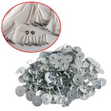 100 200Pcs świeca knot Metal Sustainer Wick Tabs srebrny do odlewania świec prezent tanie tanio CN (pochodzenie)