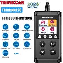 Thinkcar ferramenta de diagnóstico obd 2 scanner de automóveis ferramentas mecânica multimarca leitor código do motor obd scanner diagnóstico thinkobd 20