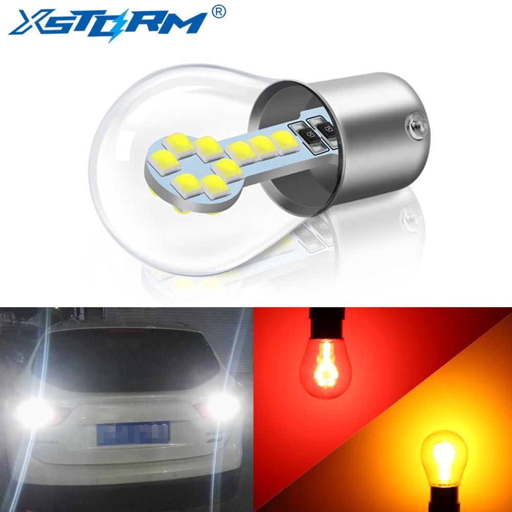 1156 BA15S P21W Led 1157 BAY15D P21/5 W светодиодные лампы R5W R10W 18SMD 800LM Автомобильные противотуманные фары DRL Поворотная сигнальная лампа 12 В белый красный желтый
