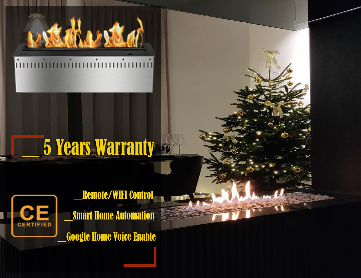 On Sale  18'' Luxury Liquid Ethanol Remote Fireplace Bio Fuel Burner Free Shipping