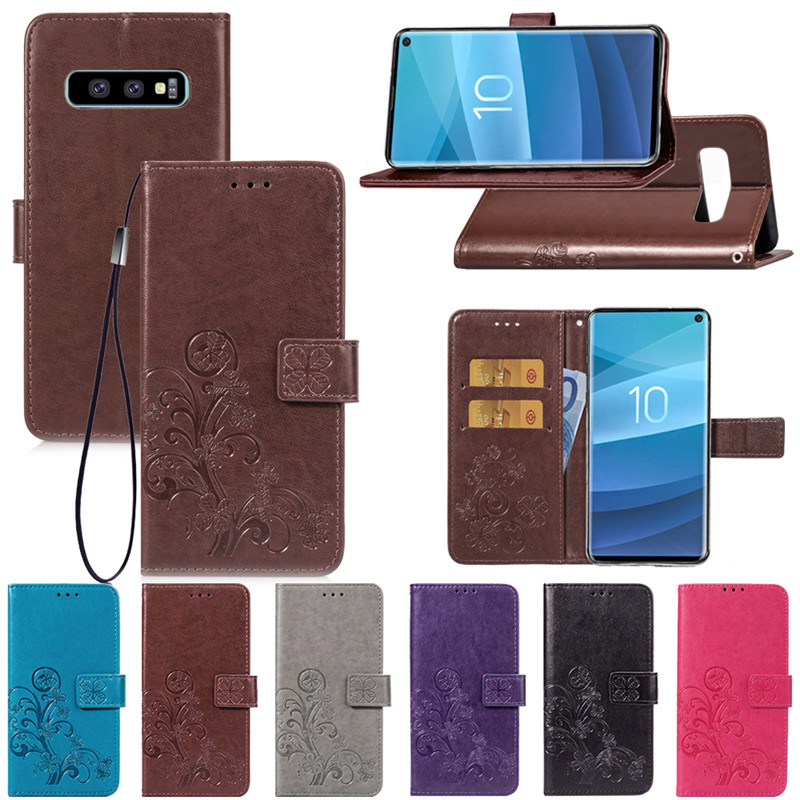 Flip Wallet Leather Case For Samsung Galaxy S9 S8 S10 Plus S10 Lite S7 E A10 20 30 40 50 <font><b>70</b></font> <font><b>2018</b></font> A7 8 9 J4 J6 Note 10 Cover image
